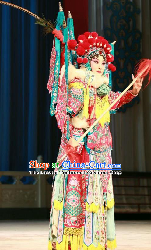 Chinese Beijing Opera Tao Ma Tan Garment Actress Costumes and Hair Accessories Traditional Peking Opera Wang Baochuan Dress Hua Tan Princess Dai Zhan Apparels