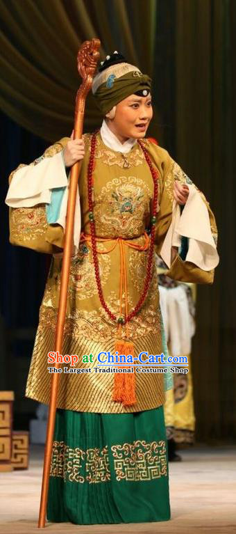 Chinese Beijing Opera Pantaloon Garment Actress Costumes and Hair Accessories Traditional Peking Opera Wang Baochuan Dress Noble Dame Apparels