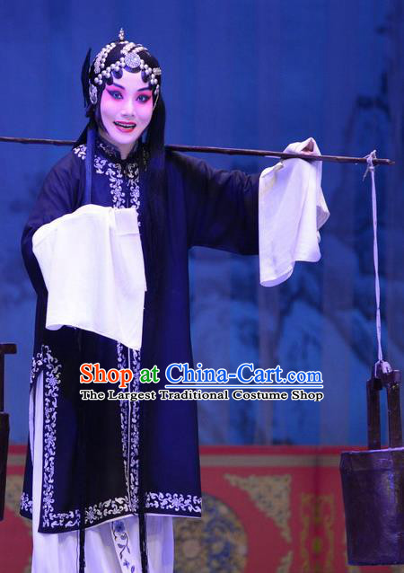 Chinese Ping Opera Tsing Yi Apparels Costumes and Headpieces Li Sanniang Traditional Pingju Opera Diva Dress Garment