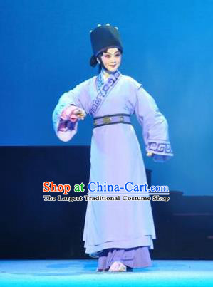 Chinese Beijing Opera Young Female Garment Costumes and Hair Accessories Traditional Peking Opera Chang Le Wei Yang Martial Lady Dress Diva Qi Huai Apparels