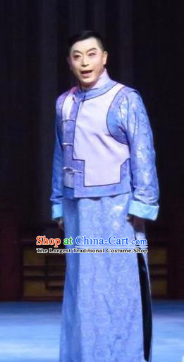 Zhao Yunniang Chinese Ping Opera Republican Period Young Male Garment Costumes Pingju Opera Elderly Childe Apparels Clothing