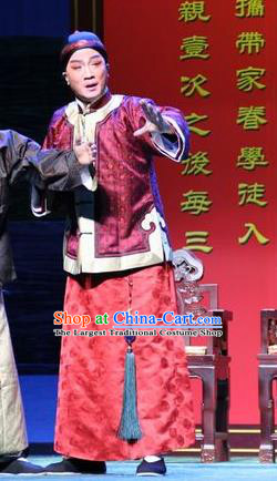 Da Sheng Kui Chinese Peking Opera Young Male Apparels Costumes and Headpieces Beijing Opera Merchant Gu Hai Garment Clothing
