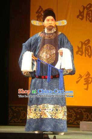 Hai Rui Bei Qian Chinese Peking Opera Minister Apparels Costumes and Headpieces Beijing Opera Official Garment Laosheng Hai Rui Clothing