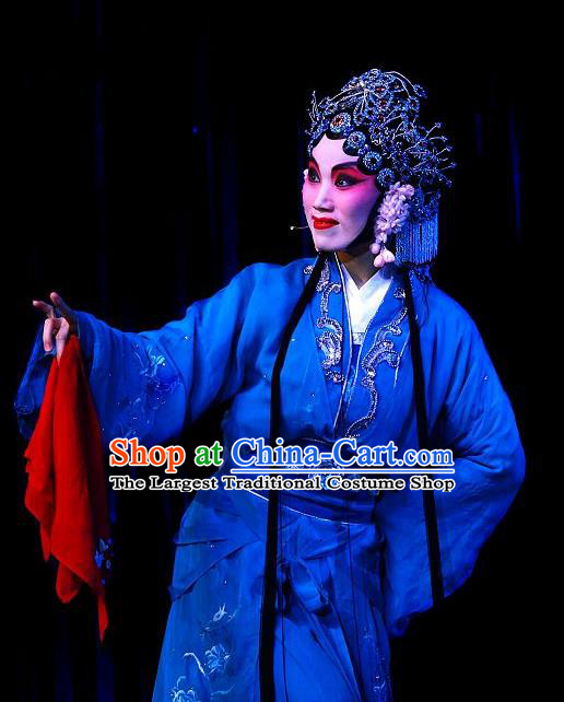 Chinese Beijing Opera Xiaodan Garment Forbidden Love Costumes and Hair Accessories Traditional Peking Opera Servant Girl Xiao Qing Dress Young Lady Apparels