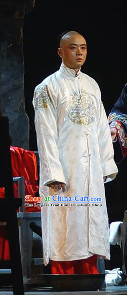 The Golden Cangue Chinese Peking Opera Childe Jiang Changbai Apparels Costumes and Headpieces Beijing Opera Young Male Garment Clothing
