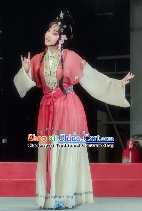 Chinese Sichuan Opera Young Beauty Costumes and Hair Accessories Traditional Peking Opera Hua Tan Dress Diva Liu Yuzhi Apparels