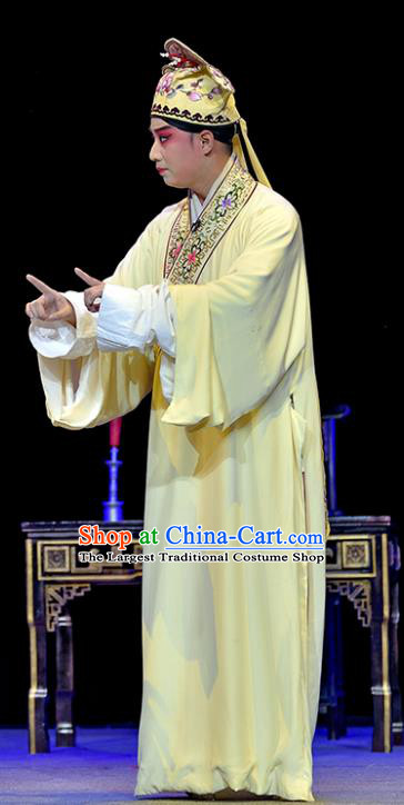 Guiying and Wang Kui Chinese Sichuan Opera Scholar Wang Kui Apparels Costumes and Headpieces Peking Opera Young Male Garment Niche Clothing
