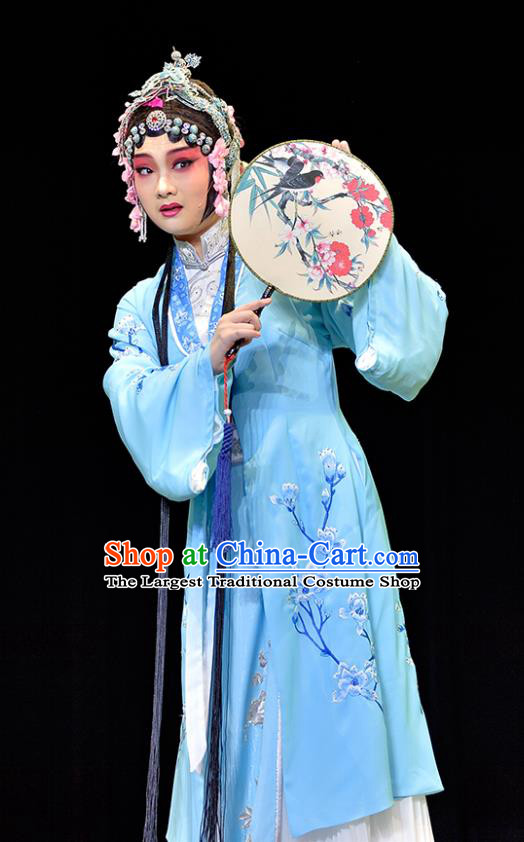 Chinese Sichuan Opera Actress Costumes and Hair Accessories Guiying and Wang Kui Traditional Peking Opera Diva Jiao Guiying Dress Hua Tan Apparels