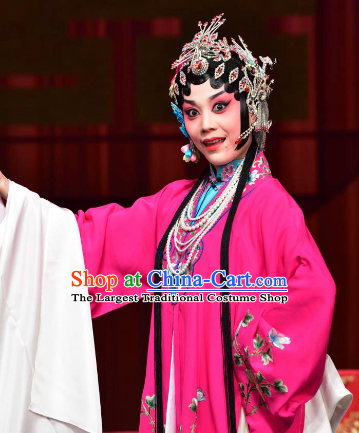 Chinese Sichuan Opera Young Female Costumes and Hair Accessories Divorce Case Traditional Peking Opera Hua Tan Dress Diva Rosy Apparels