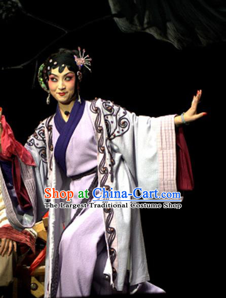 Chinese Sichuan Opera Young Female Costumes and Hair Accessories Yu Hai Kuang Chao Traditional Peking Opera Actress Dress Diva Pu Lan Apparels
