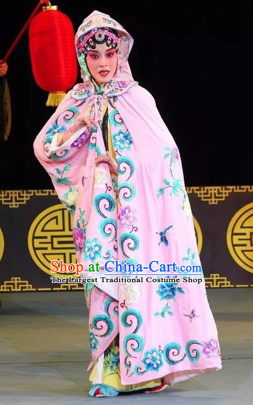 Chinese Sichuan Opera Actress Jiao Guiying Costumes and Hair Accessories Fen Xiang Ji Traditional Peking Opera Hua Tan Dress Courtesan Apparels