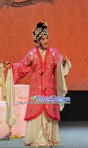 Chinese Sichuan Opera Diva Bai Suzhen The Legend of White Snake Garment Costumes and Hair Accessories Traditional Peking Opera Actress Dress Hua Tan Apparels