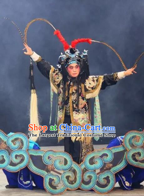 The Legend of White Snake Chinese Sichuan Opera Swordsman Apparels Costumes and Headpieces Peking Opera Wusheng Garment Martial Male Clothing