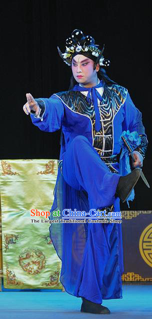 The Legend of White Snake Chinese Sichuan Opera Swordsman Apparels Costumes and Headpieces Peking Opera Martial Male Garment Clothing