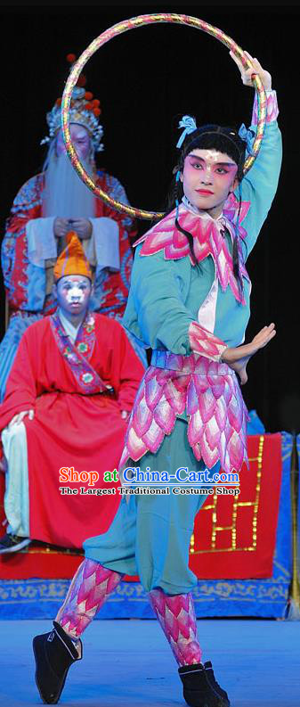 The Legend of White Snake Chinese Sichuan Opera Martial Male Ne Zha Apparels Costumes and Headpieces Peking Opera Wusheng Garment Clothing