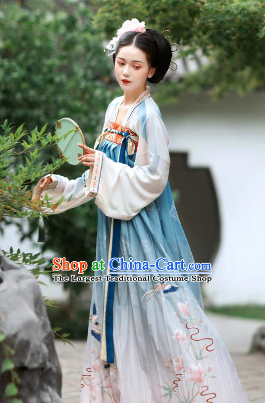 Chinese Ancient Noble Infanta Embroidered Hanfu Dress Traditional Tang Dynasty Royal Princess Historical Costumes Court Lady Garment