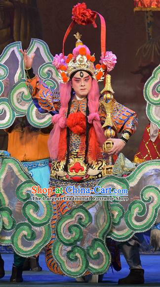 The Legend of White Snake Chinese Sichuan Opera Martial Male Apparels Costumes and Headpieces Peking Opera General Garment Armor Clothing