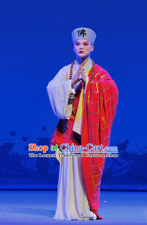 Xue Baochai Chinese Sichuan Opera Young Male Apparels Costumes and Headpieces Peking Opera Xiaosheng Garment Monk Jia Baoyu Clothing