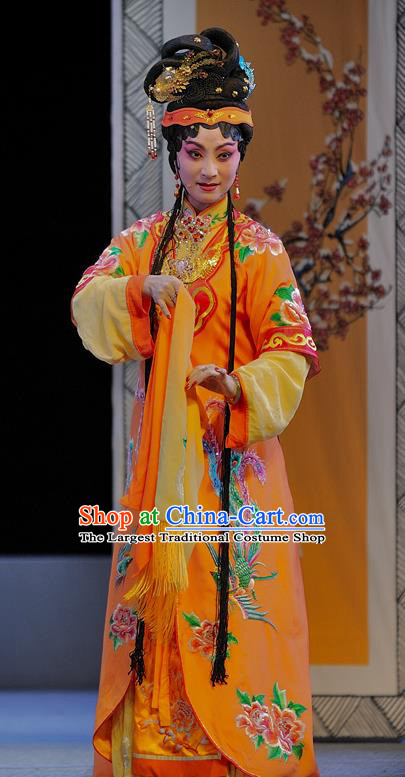 Chinese Sichuan Opera Young Mistress Wang Xifeng Garment Costumes and Hair Accessories Traditional Peking Opera Xue Baochai Dress Diva Apparels