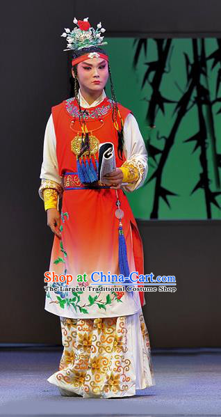 Xue Baochai Chinese Sichuan Opera Xiaosheng Apparels Costumes and Headpieces Peking Opera Young Male Garment Childe Jia Baoyu Clothing