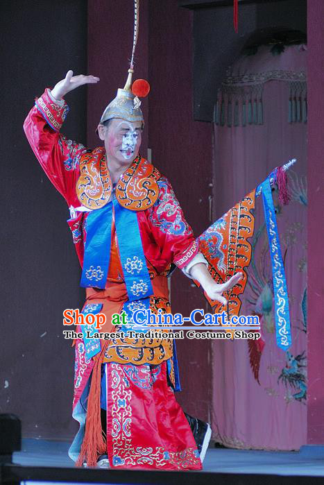 Chinese Sichuan Opera Soldier Apparels Costumes and Headpieces Peking Opera Wusheng Garment Clown Clothing