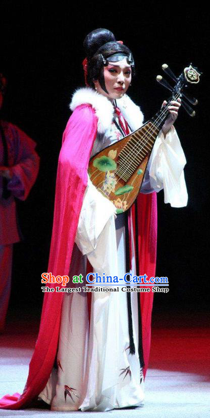 Chinese Sichuan Opera Young Female Garment Costumes and Hair Accessories Li Yaxian Traditional Peking Opera Actress Dress Diva Apparels
