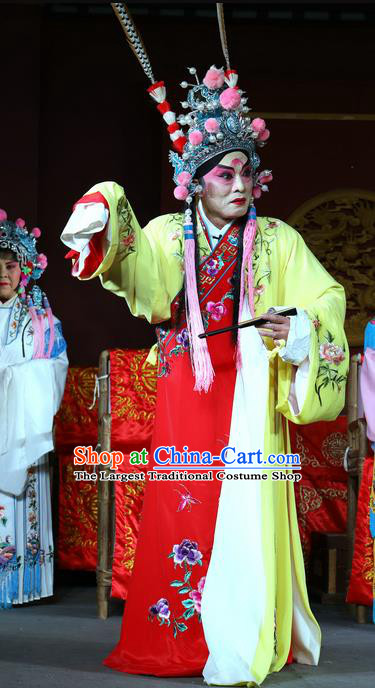 Chu Gong Hui Chinese Sichuan Opera Prince Jian Apparels Costumes and Headpieces Peking Opera Xiaosheng Garment Young Male Clothing