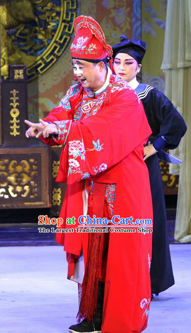 Sheng Si Pai Chinese Sichuan Opera Clown Apparels Costumes and Headpieces Peking Opera Bully Yan Sanlang Garment Childe Clothing