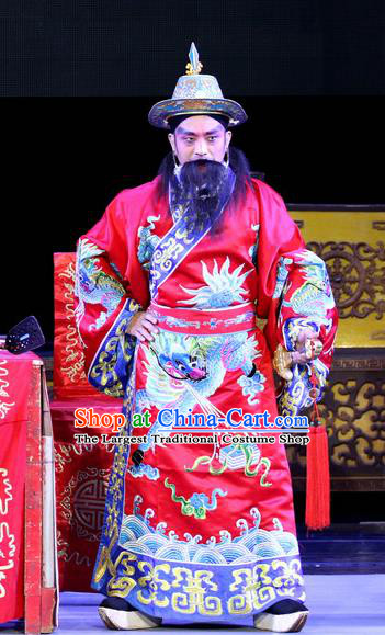 Sheng Si Pai Chinese Sichuan Opera Lord Apparels Costumes and Headpieces Peking Opera Royal Highness Garment Clothing