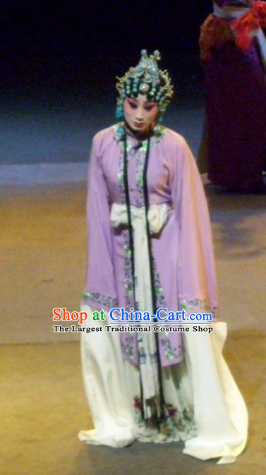Chinese Sichuan Opera Distress Woman Cui Qiaofeng Garment Costumes and Hair Accessories Ma Qian Po Shui Traditional Peking Opera Actress Dress Young Female Apparels
