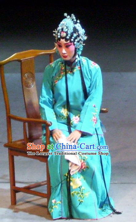 Chinese Sichuan Opera Actress Cui Qiaofeng Garment Costumes and Hair Accessories Ma Qian Po Shui Traditional Peking Opera Diva Dress Hua Tan Apparels