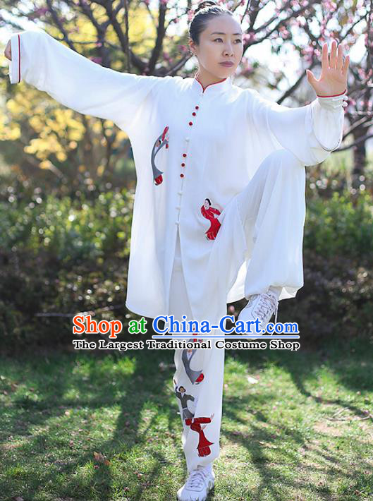 Professional Tai Chi Costume Top Grade Martial Arts Training Uniform Clothing Tai Ji Competition Embroidered Outfits for Women