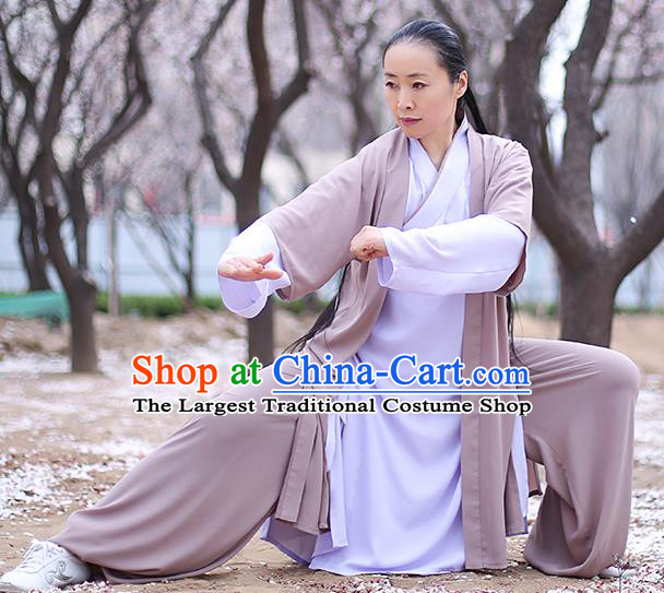 Chinese Traditional Professional Martial Arts Performance Costume Top Grade Tai Ji Training Uniforms Tai Chi Competition Outfits