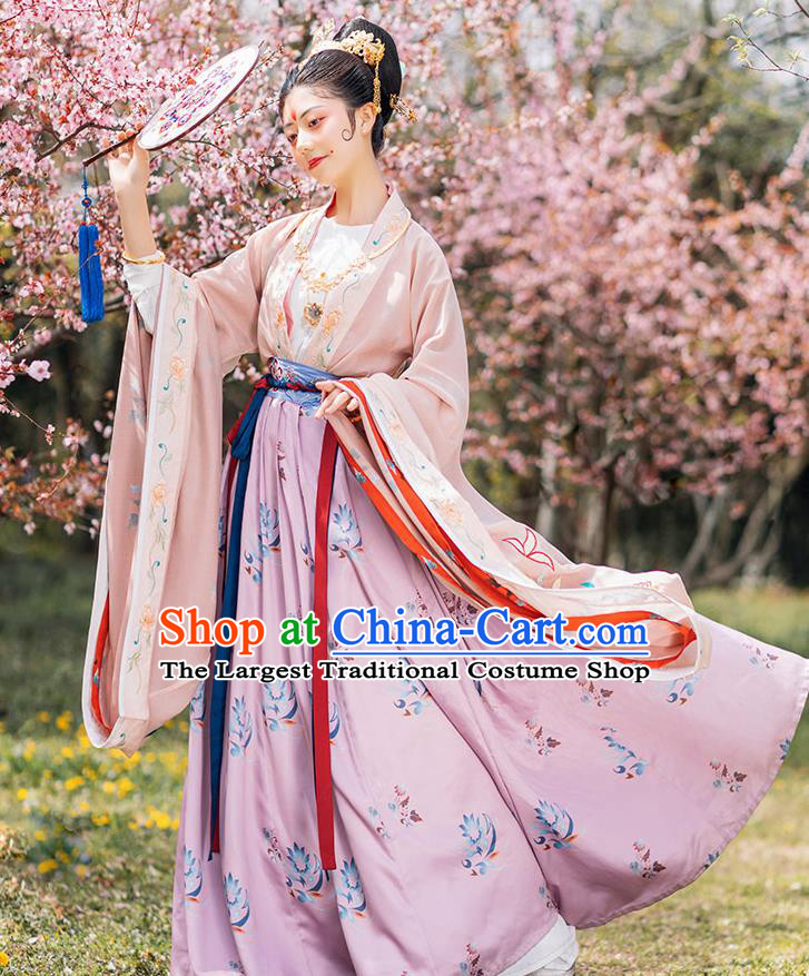 Chinese Ancient Royal Princess Hanfu Dress Traditional Northern and Southern Dynasties Court Lady Historical Costumes Imperial Consort Garment Complete Set