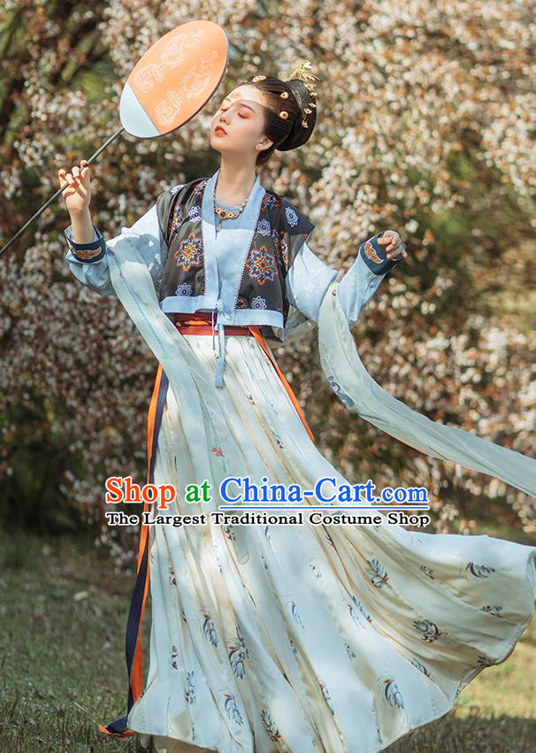 Chinese Ancient Court Lady Hanfu Dress Traditional Tang Dynasty Royal Princess Garment Historical Costumes for Women