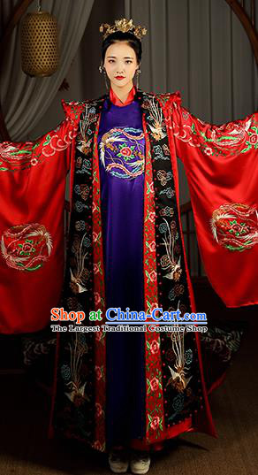 Chinese Ancient Imperial Consort Hanfu Dress Traditional Garment Song Dynasty Court Empress Historical Costumes Complete Set for Woman