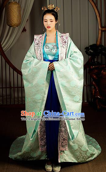 Chinese Traditional Song Dynasty Imperial Consort Hanfu Dress Ancient Garment Court Queen Historical Costumes Complete Set