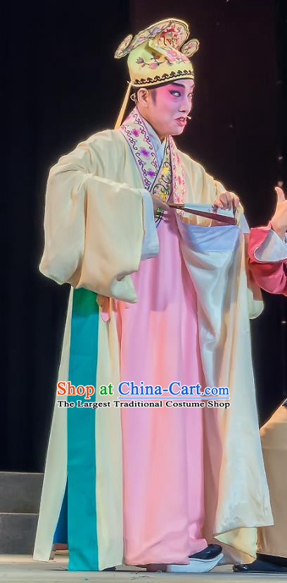 Zhuo Wenjun Chinese Sichuan Opera Scholar Sima Xiangru Apparels Costumes and Headpieces Peking Opera Young Male Garment Xiaosheng Clothing