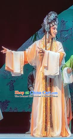 Chinese Sichuan Opera Diva Dou Suyi Garment Costumes and Hair Accessories Bao En Ji Traditional Peking Opera Hua Tan Dress Young Female Apparels