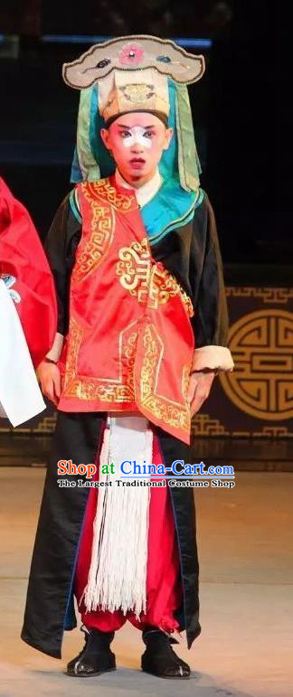 Shuang Tian Guan Chinese Sichuan Opera Swordsman Apparels Costumes and Headpieces Peking Opera Figurant Garment Clothing