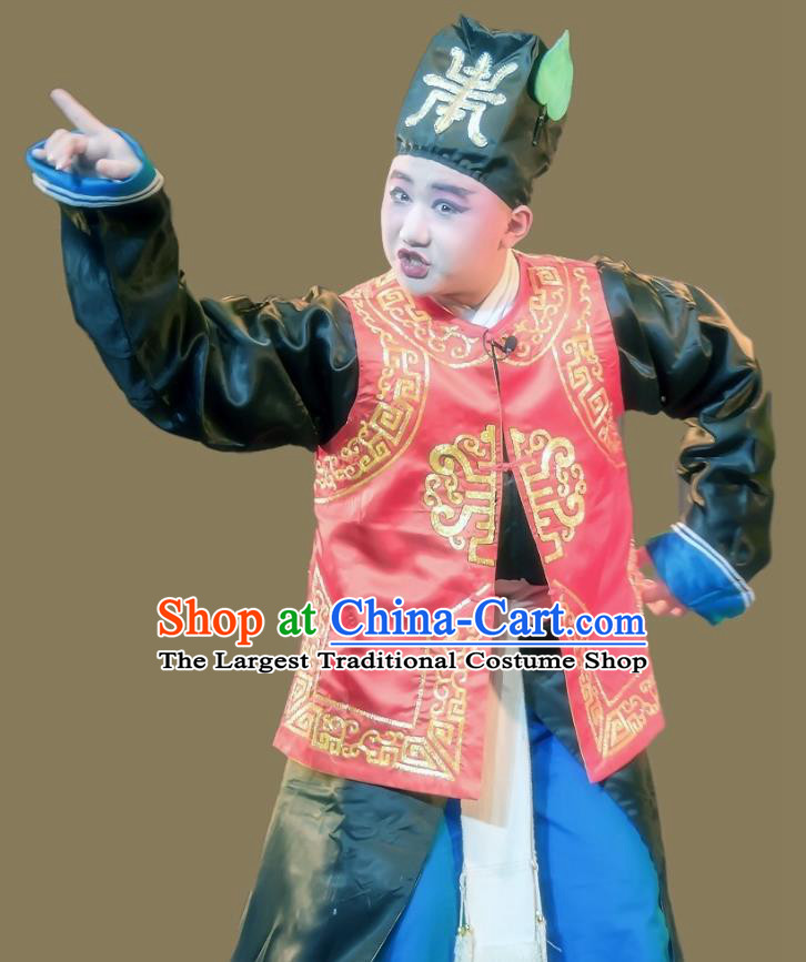 Shuang Tian Guan Chinese Sichuan Opera Figurant Apparels Costumes and Headpieces Peking Opera Martial Male Garment Swordsman Clothing