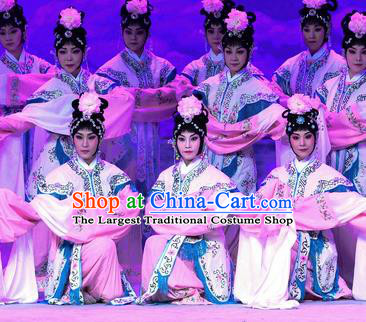 Chinese Beijing Opera Xiaodan Apparels Costumes and Headpieces Traditional Peking Opera Ma Zu Goddess Dress Garment