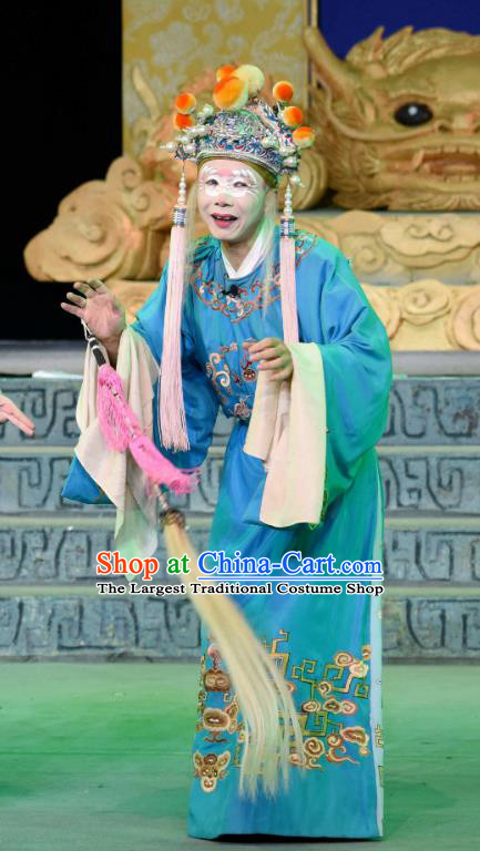 Qing Yun Palace Chinese Sichuan Opera Palace Servant Apparels Costumes and Headpieces Peking Opera Eunuch Garment Clothing