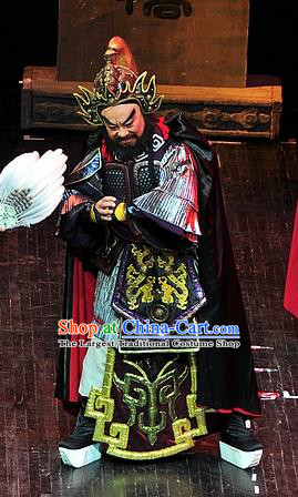 Xi Zhao Qi Shan Chinese Sichuan Opera General Wei Yan Apparels Costumes and Headpieces Peking Opera Shogun Garment Armor Clothing