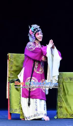 Chinese Sichuan Opera Young Woman Garment Costumes and Hair Accessories Yu He Qiao Traditional Peking Opera Consort Dress Apparels