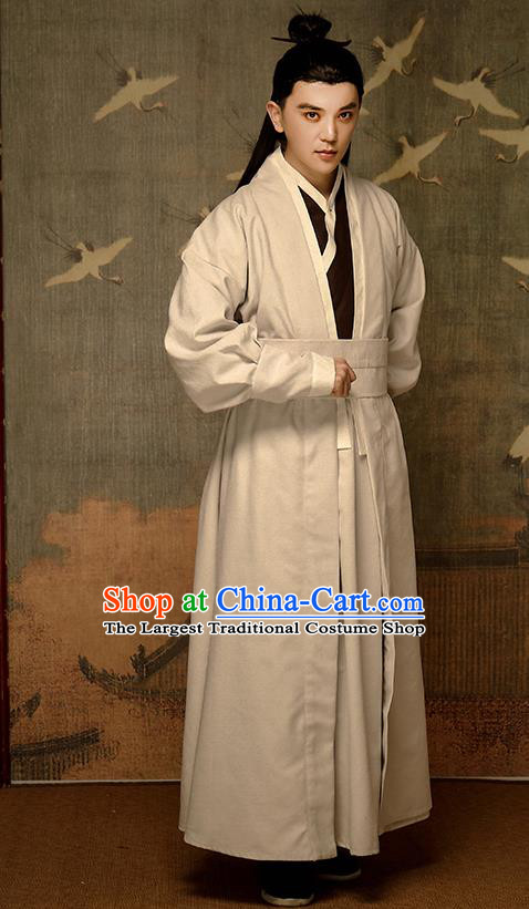 Chinese Traditional Song Dynasty Swordsman Hanfu Clothing Ancient Drama Kawaler Garment Civilian Male Historical Costumes