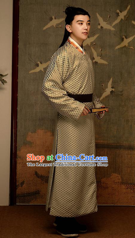 Chinese Traditional Song Dynasty Noble Childe Hanfu Clothing Ancient Drama Historical Costumes Scholar Garment