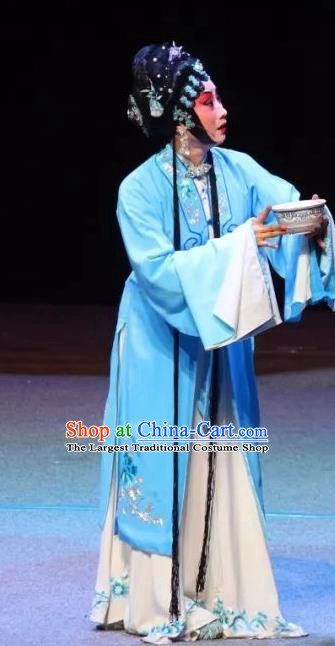 Chinese Sichuan Opera Actress Garment Costumes and Hair Accessories Mother of Mu Lian Traditional Peking Opera Young Female Dress Distress Woman Liu Siniang Apparels