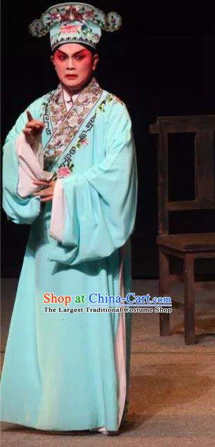Mother of Mu Lian Chinese Sichuan Opera Xiaosheng Apparels Costumes and Headpieces Peking Opera Young Male Garment Clothing