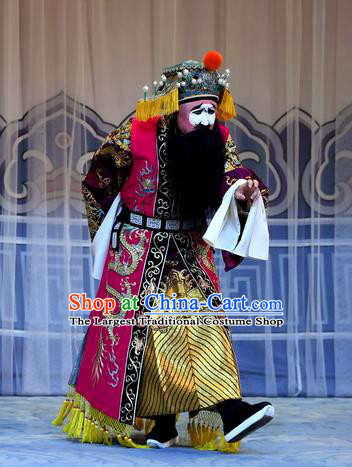 Mrs Anguo Chinese Peking Opera Laosheng Garment Costumes and Headwear Beijing Opera King Apparels Clothing